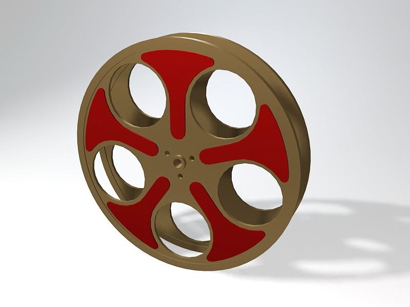 Old Movie Reel 3d rendering