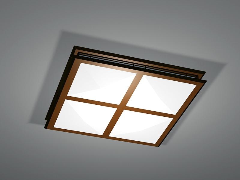 Square Kitchen Ceiling Lights 3d rendering