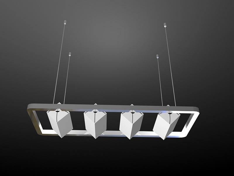 Modern Kitchen Pendant Lighting Ideas 3d rendering