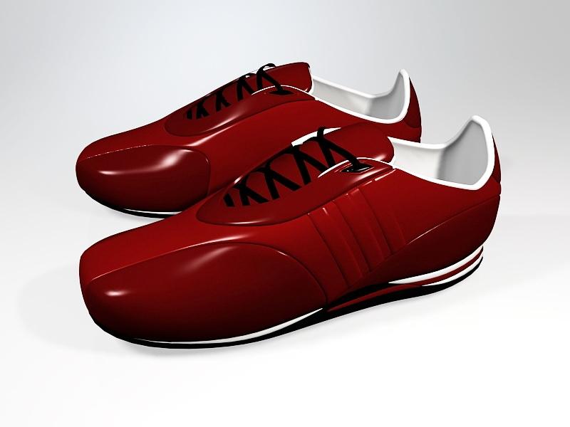 Red Sneakers 3d rendering