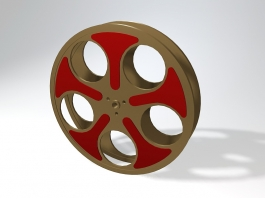 Old Movie Reel 3d preview