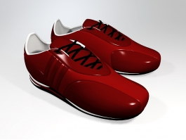 Red Sneakers 3d preview