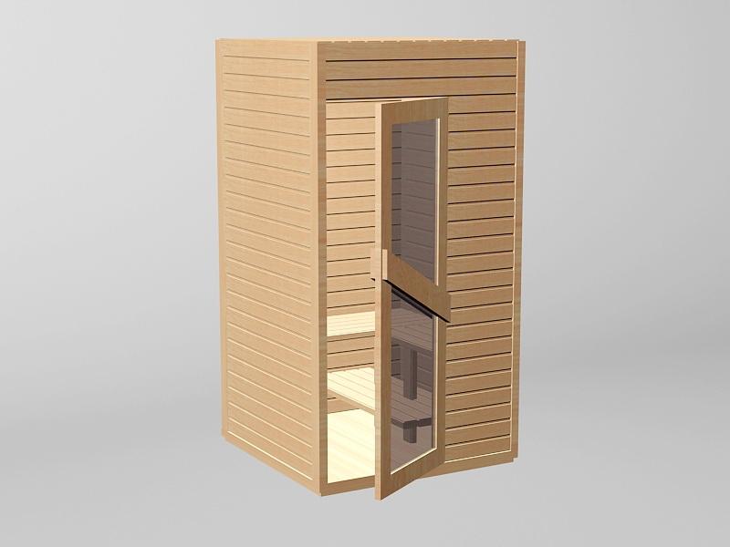 Small Sauna Room 3d rendering