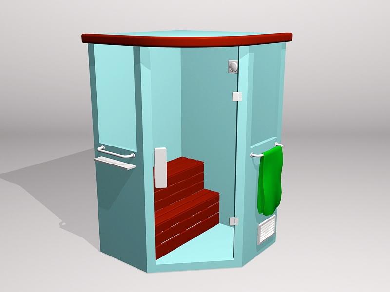 Home Steam Room 3d rendering