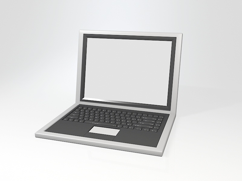 PC Computer Laptop 3d rendering