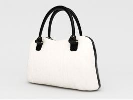 Ladies White Handbag 3d preview