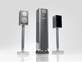 Professional Audio Palyer and Speakers 3d preview