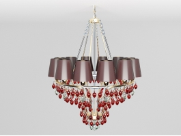 Red Crystal Chandelier 3d preview