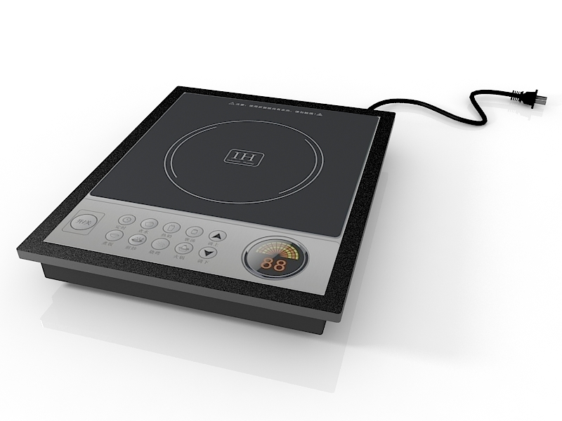 Electrical Induction Cooker 3d rendering