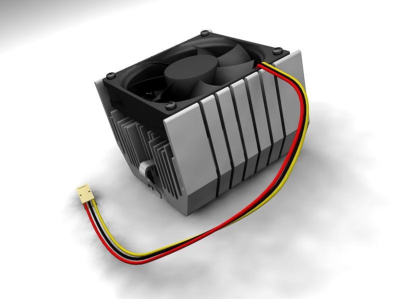Low Profile CPU Cooler 3d rendering