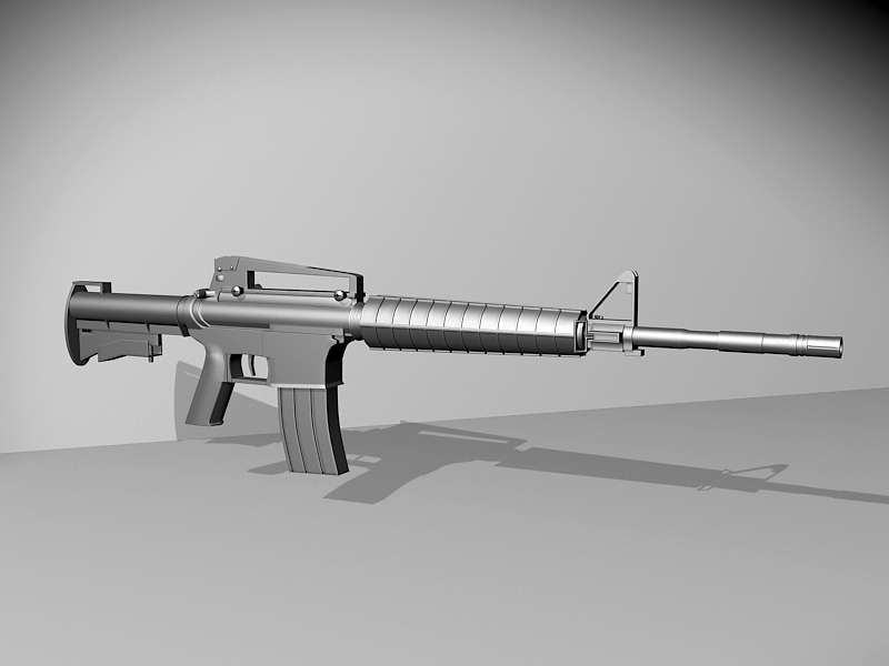 Military M16 Assault Rifle 3d rendering