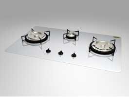 Kitchen Gas Cooktop 3d preview
