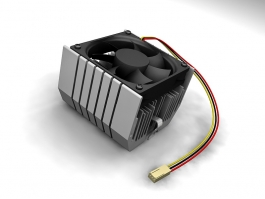 Low Profile CPU Cooler 3d preview