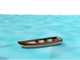 Low Poly Boat 3d preview
