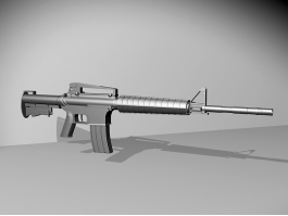 Military M16 Assault Rifle 3d preview