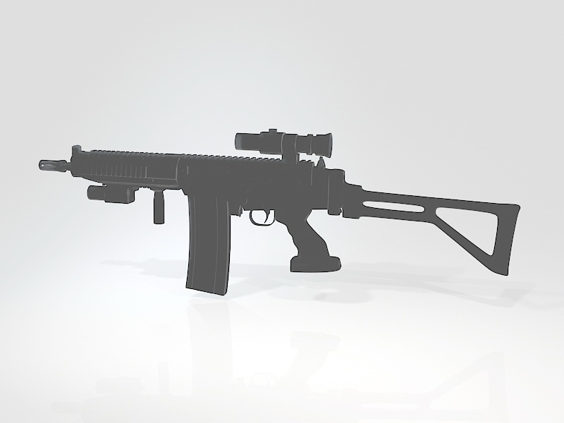 AK-308 Battle Rifle 3d rendering