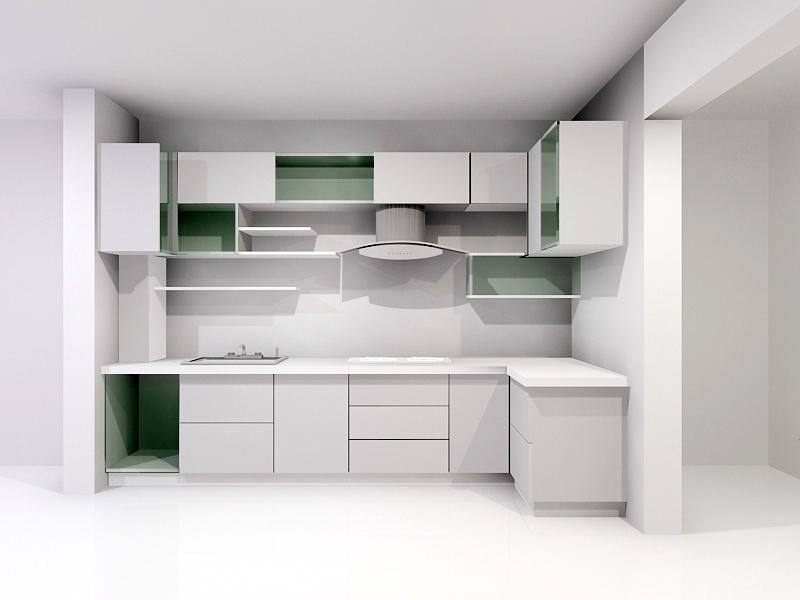 Contemporary Kitchen Ideas 3d rendering
