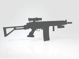 AK-308 Battle Rifle 3d preview