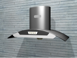 Wall Mounted Range Hood 3d preview