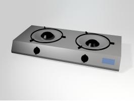 2 Burner Gas Cooktop 3d preview