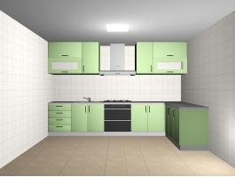 Green Kitchen Design Ideas 3d preview