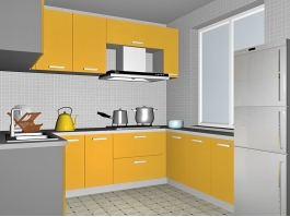 Yellow Kitchen Decor Ideas 3d preview