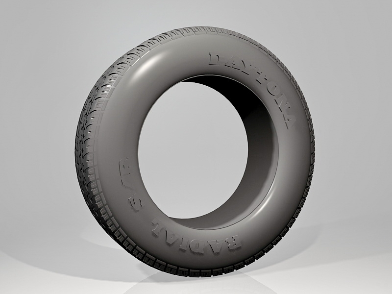 Daytona Radial Tire 3d rendering