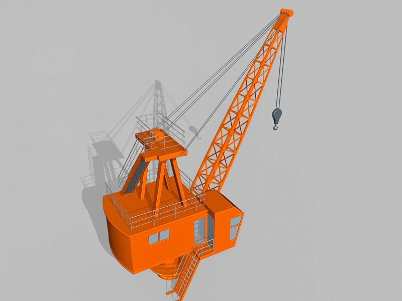 Fixed Pedestal Crane 3d rendering