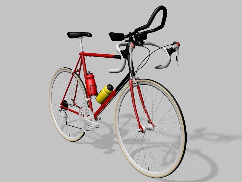 Vintage Gitane Bike 3d rendering