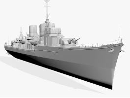 Military Battleship 3d preview