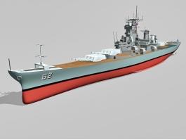 Battleship USS New Jersey 3d preview