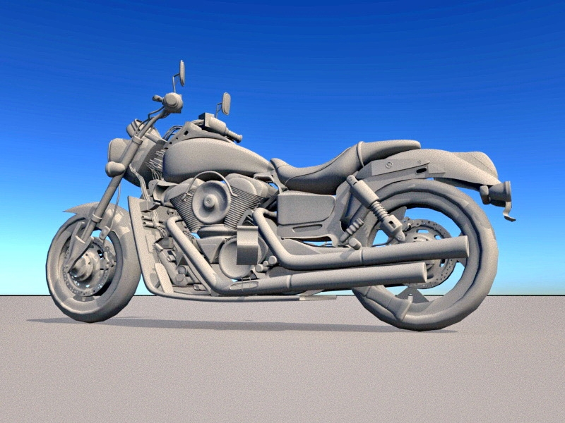 Super Sport Motorcycle 3d rendering