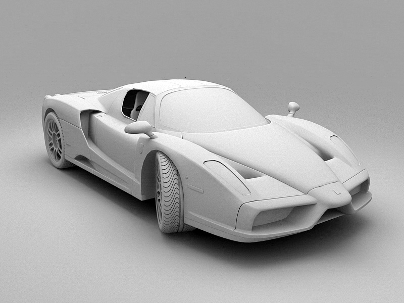 Ferrari F430 F1 Spider 3d rendering