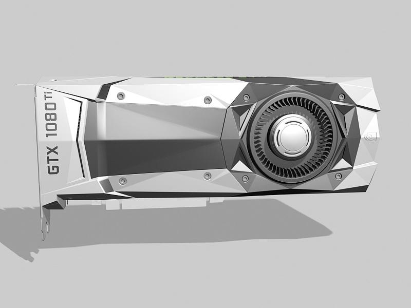 GTX 1080 Ti Graphics Card 3d rendering