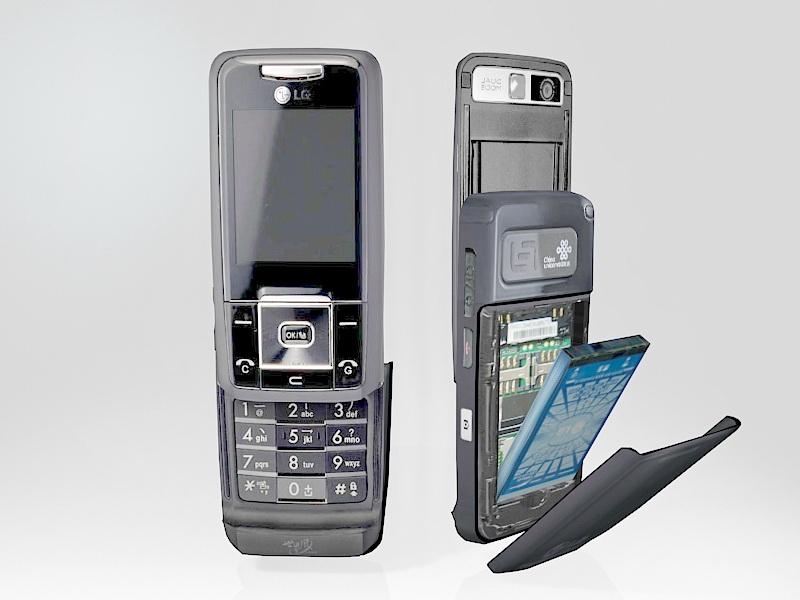 LG KW820 Phone 3d rendering