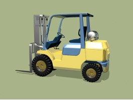 Yellow Forklift 3d preview