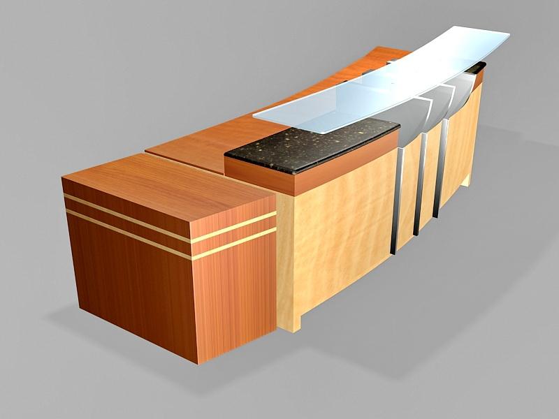 Office Reception Area Design 3d rendering