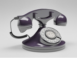 Vintage Rotary Phone 3d preview