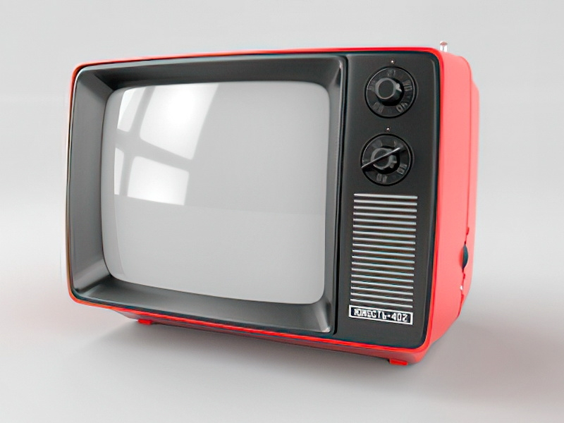 Old Television 3d rendering