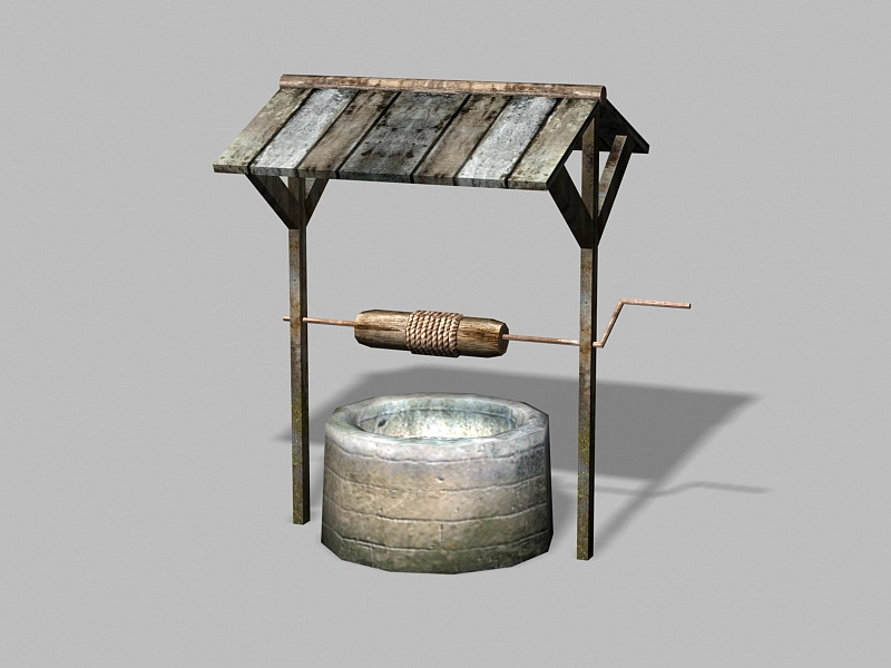 Old Water Well 3d rendering