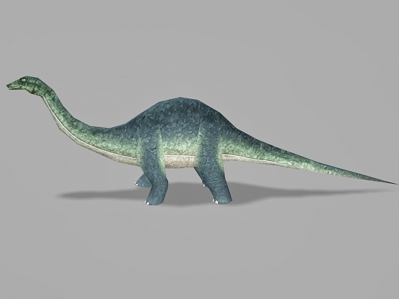 Animated Brontosaurus Dinosaur Rig 3d rendering