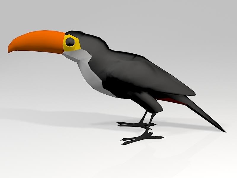 Toucan Parrot 3d rendering