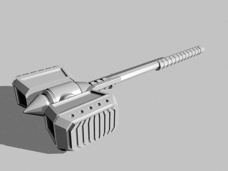 Sci-fi Hammer 3d rendering