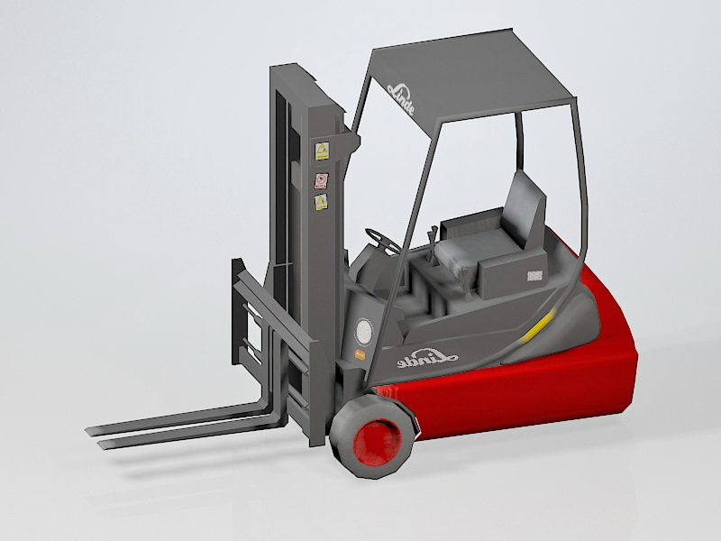 Warehouse Electric Forklift 3d rendering