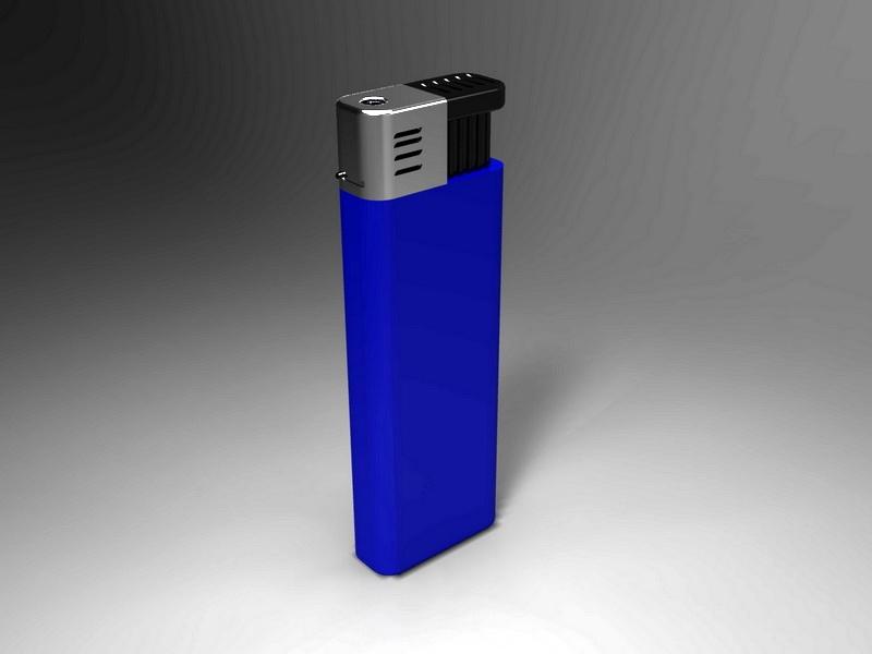 Blue Disposable Lighter 3d rendering