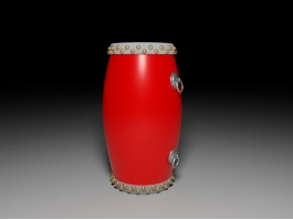 Antique Chinese Provincial Drum 3d preview