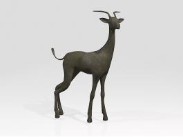 Black Gazelle Animal 3d preview