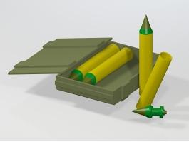 Howitzer Artillery Shells 3d preview