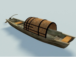 Ancient Chinese Fishing Boat 3d preview