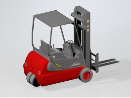 Warehouse Electric Forklift 3d preview